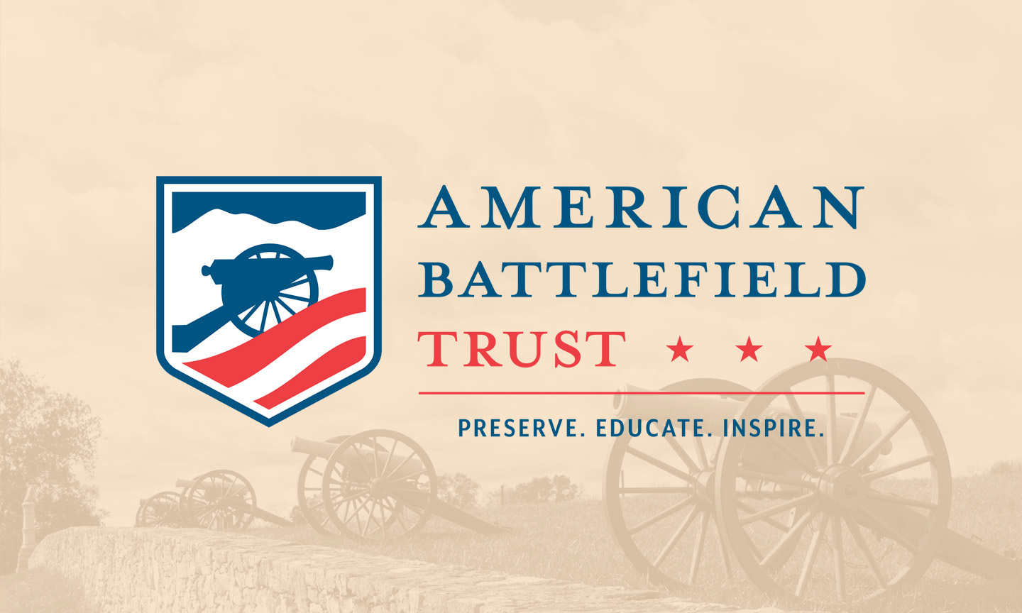 The American Battlefield Trust logo. The subtitle reads: Preserve. Educate. Inspire.