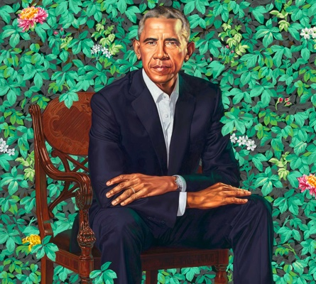 Obama portrait by Kihinde Wiley