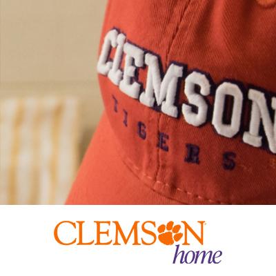 an image of a orange baseball cap with Clemson written on it