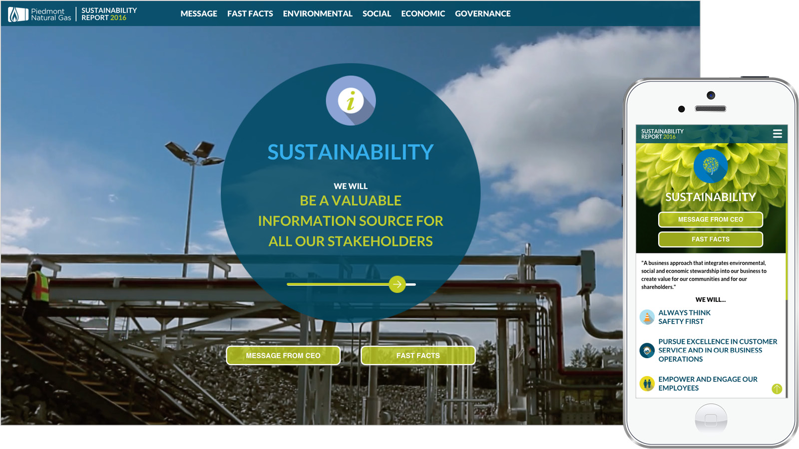 Piedmont sustainability web design Drupal