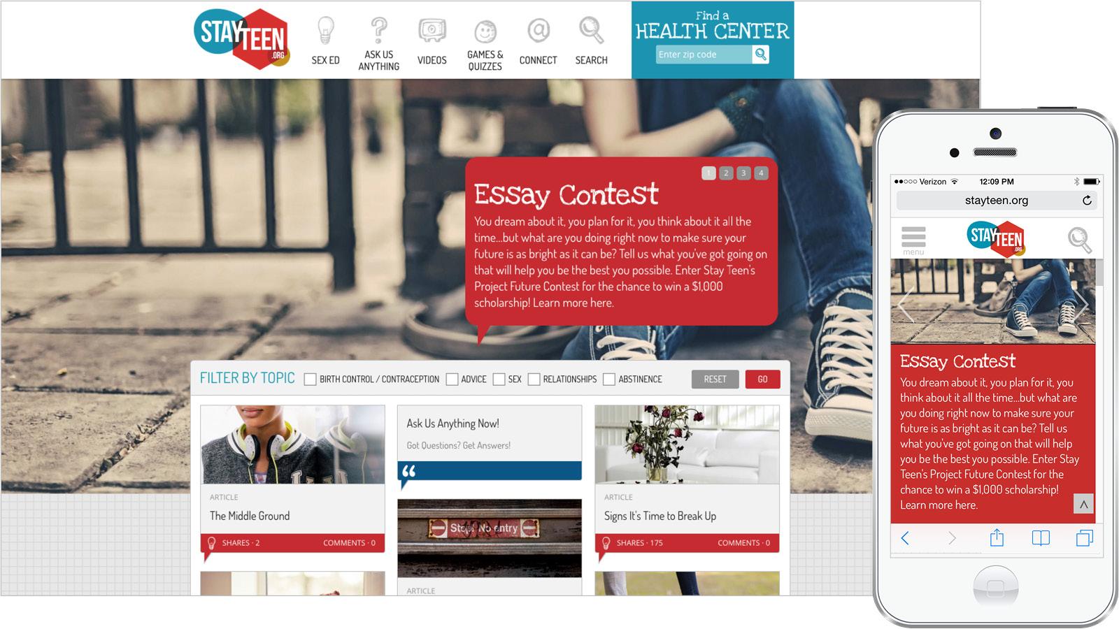 Stayteen.org web design drupal